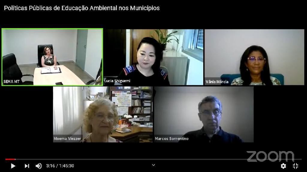 Webinar da Sema debate políticas públicas de educação ambiental nos municípios