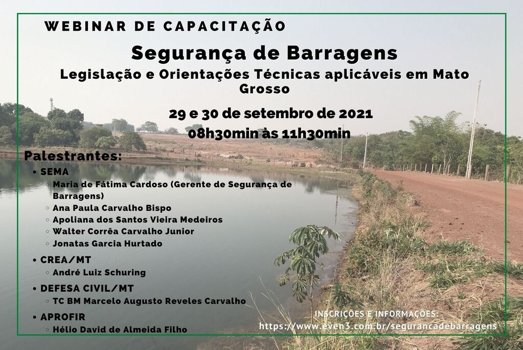Sema promove Webinar sobre Segurança em Barragens